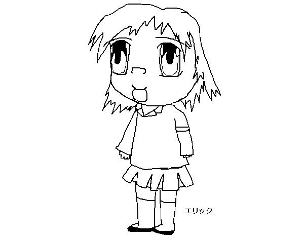 Girl in uniform coloring page