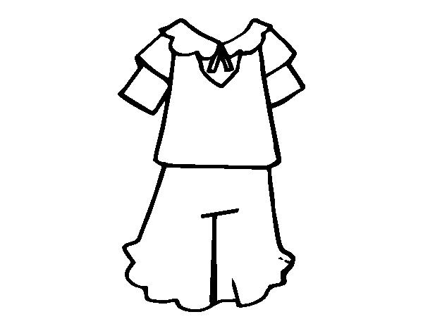 school uniforms coloring pages   Girl school uniform coloring page - Coloringcrew.com