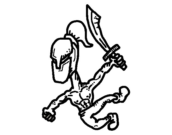 Gladiator strong coloring page