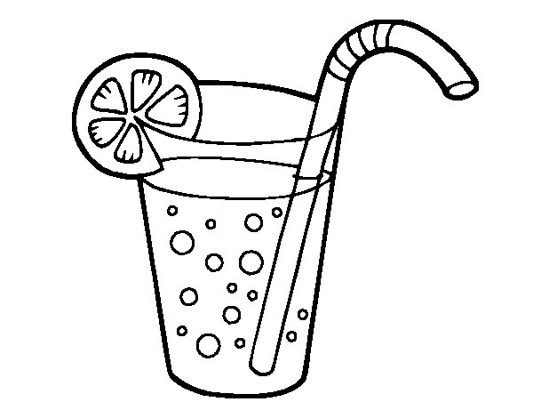 Glass of soda coloring page