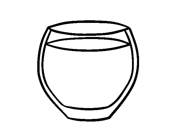 Glass of water coloring page Coloringcrewcom
