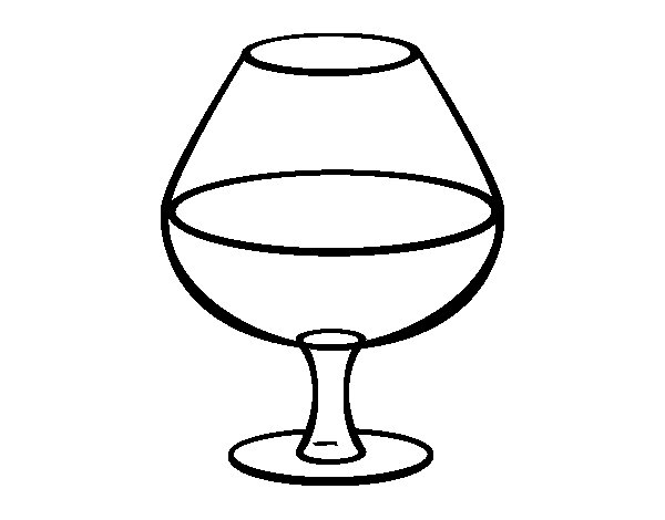 Glass of wine coloring page Coloringcrewcom