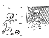 Goalkeeper football coloring page
