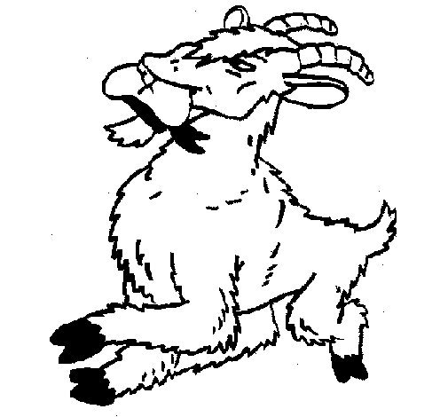 Goat 1 coloring page
