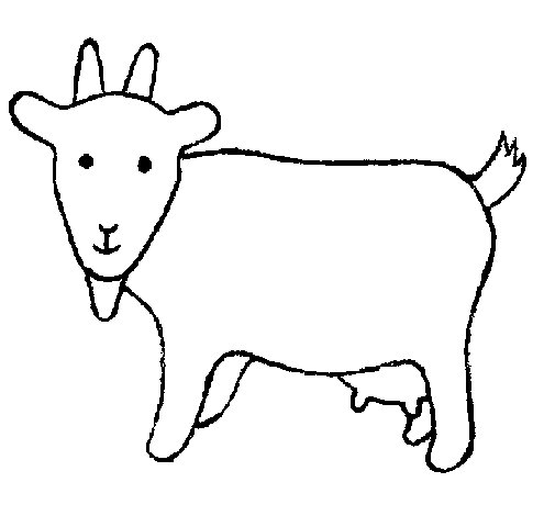 Goat 2 coloring page