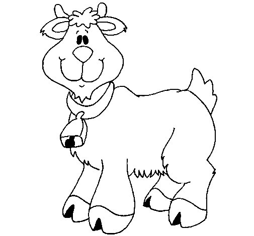 Goat 3 coloring page