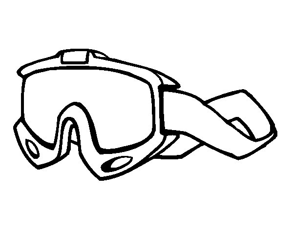 Goggles coloring page