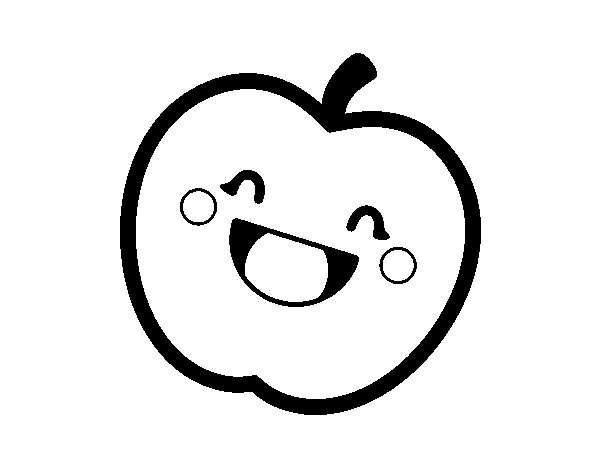 Golden apple coloring page