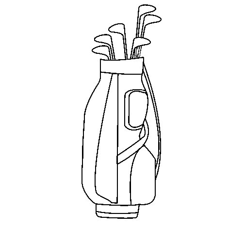 Golf club coloring page