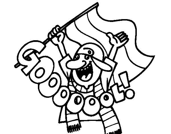 Gooooool! coloring page