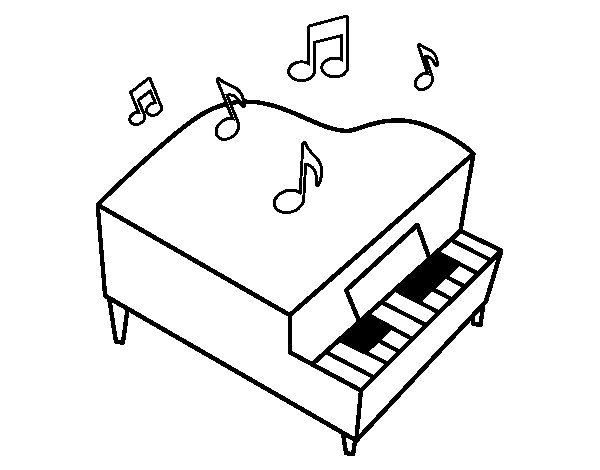 Grand piano coloring page Coloringcrewcom