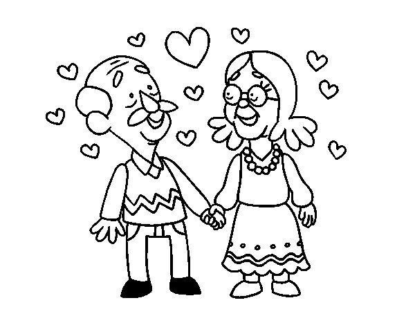 Grandparents love so much coloring page