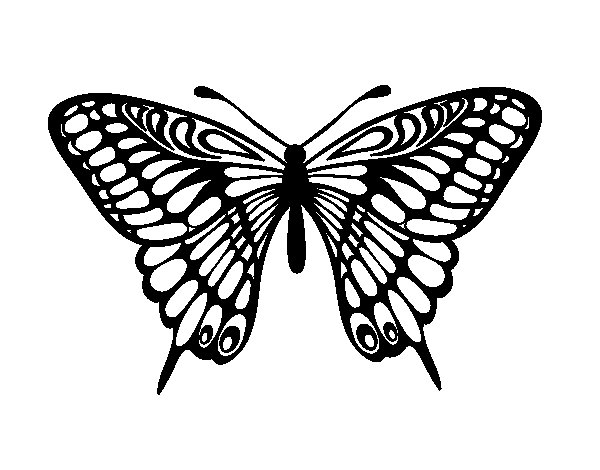 Great Mormon Butterfly coloring page