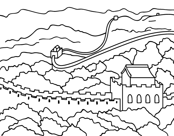 Great Wall Of China Coloring Page Coloringcrew Com Great Wall Of China Coloring Page