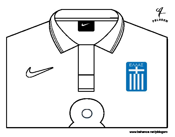 greece world cup 2014 t shirt coloring page