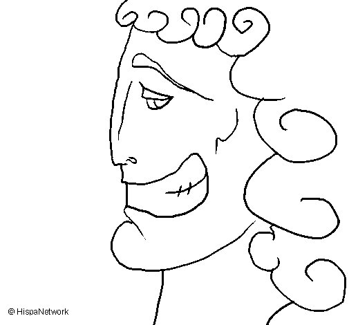 Greek head coloring page