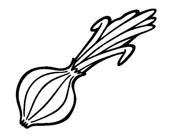 Green Onion coloring page