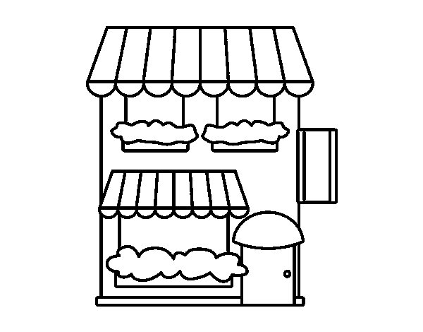 Grocery store coloring page - Coloringcrew.com
