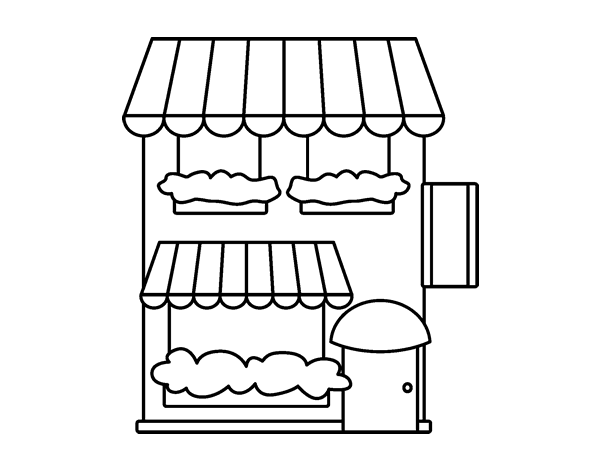 supermarket coloring pages - photo#7