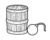 Gunpowder and pirate bomb coloring page