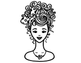 Hairstyle with loop coloring page