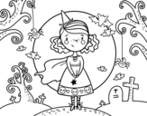 Halloween day coloring page