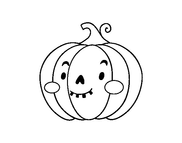 Halloween pumpkin sympathetic coloring page