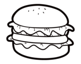 Dibujo de Hamburger with lettuce