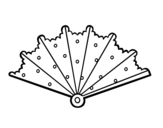 Hand fan with tops coloring page