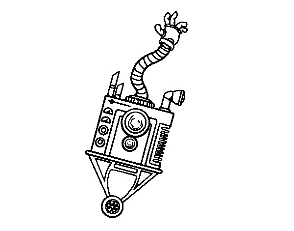 Hand Robot coloring page