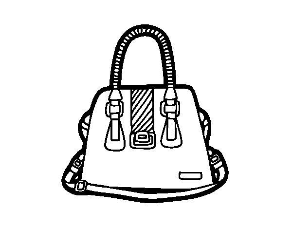 Handbag with handles coloring page