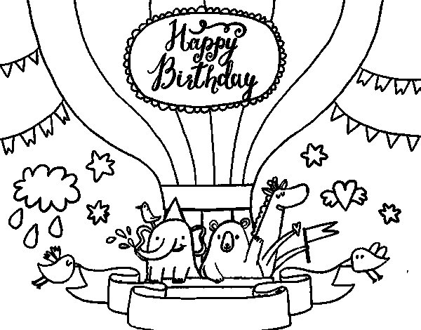 Happy Birthday Card coloring page Coloringcrew – Coloring Pages of Happy Birthday Cards