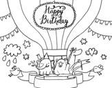 Happy Birthday Card coloring page