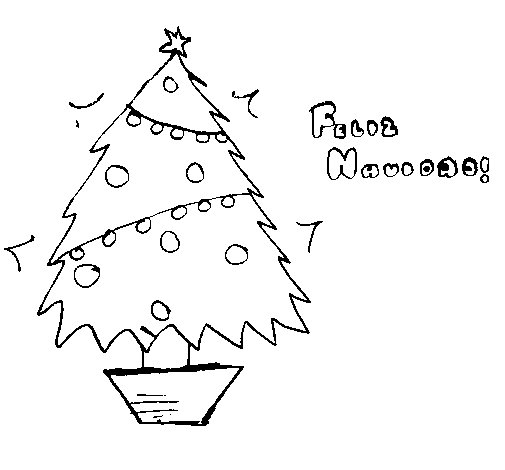 Happy Christmas 2 coloring page