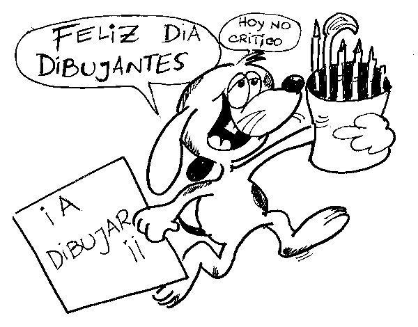 Happy day cartoonists coloring page
