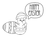 Happy Easter day coloring page