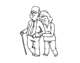 Dibujo de Happy grandparents