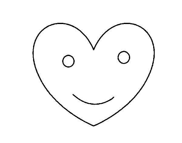 Happy heart coloring page