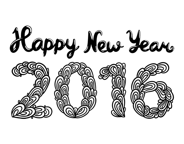 Happy new year 2016 coloring page for Happy new year coloring pages 2016
