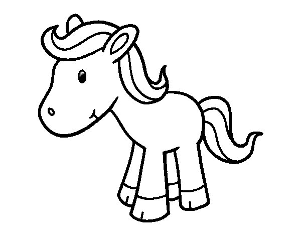 Happy Pony coloring page