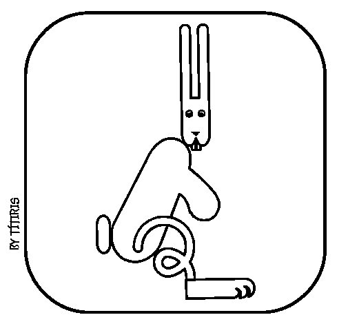 Hare 4 coloring page