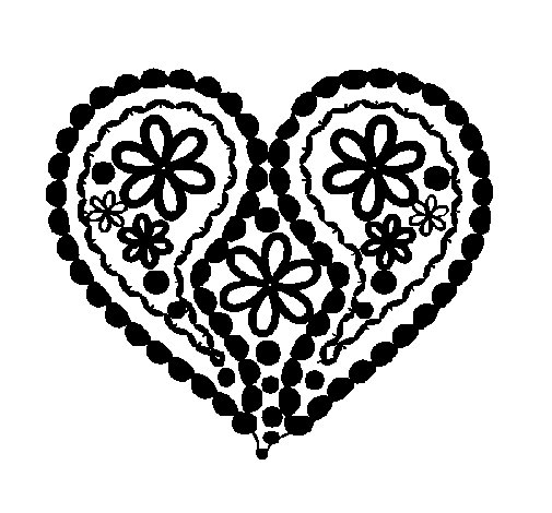 emejing hearts flowers coloring pages images - printable coloring ... - Coloring Pages Hearts Flowers