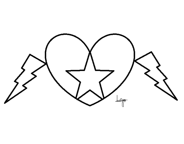 hearts and stars coloring pages - heart star coloring page