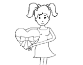 Heart Teenager coloring page