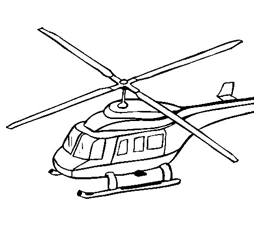 Helicopter 3 coloring page