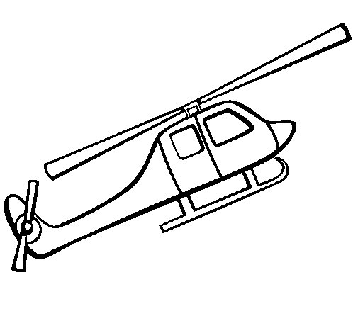 Helicopter toy coloring page