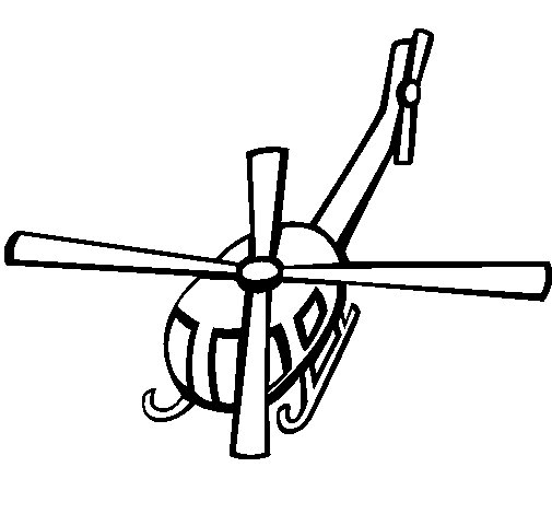 Helicopter V coloring page