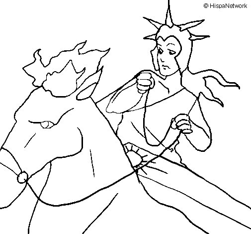 Helios coloring page
