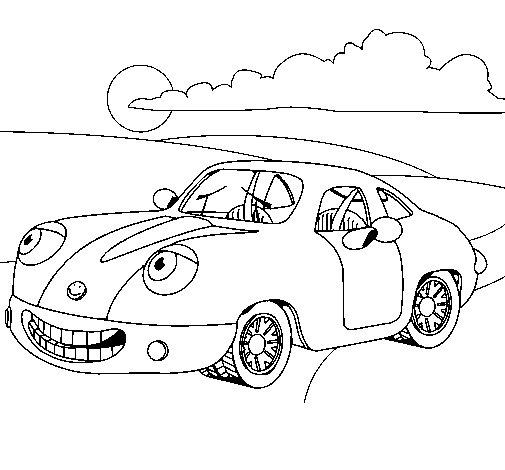 Herbie coloring page - Coloringcrew.com