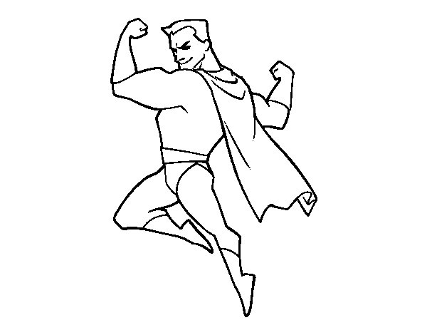 Hero strongman coloring page